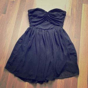 ASOS LBD Strapless Mini Dress Sweetheart Neckline